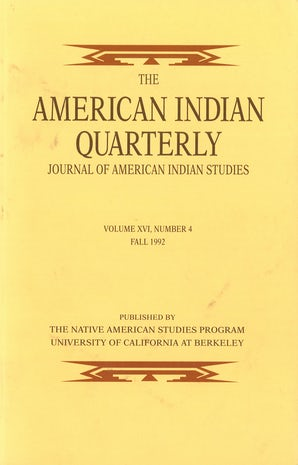 American Indian Quarterly 16:4