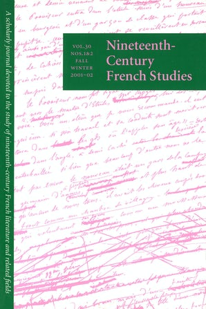 Nineteenth-Century French Studies 30:1/2