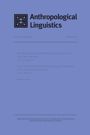 Anthropological Linguistics 52:3/4