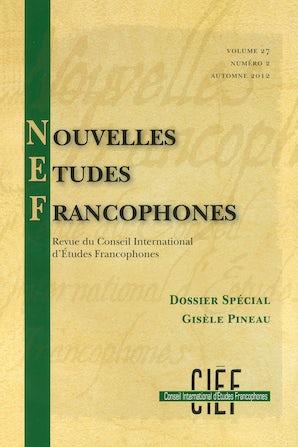 Nouvelles Études Francophones 27:2