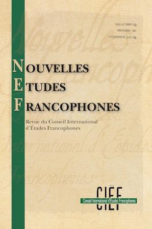 Nouvelles Études Francophones 28:1