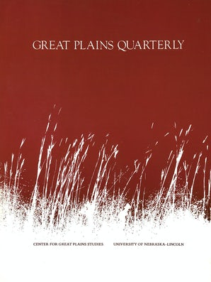 Great Plains Quarterly 12:1