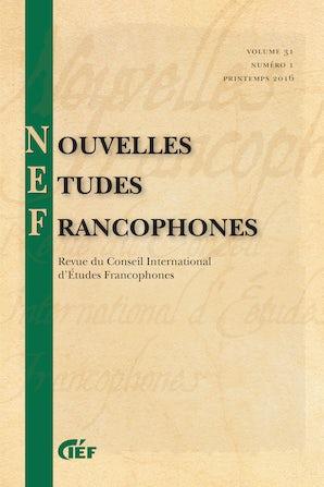 Nouvelles Études Francophones 31:1