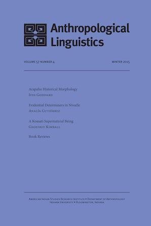Anthropological Linguistics 57:4