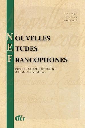 Nouvelles Études Francophones 31:2