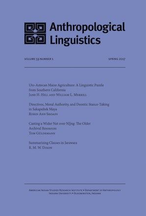 Anthropological Linguistics 59:1