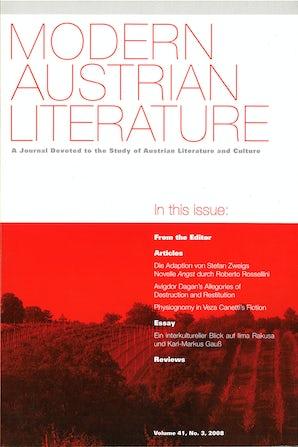 Modern Austrian Literature 41:3