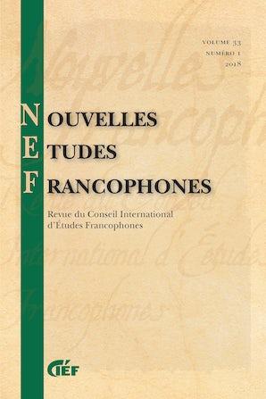 Nouvelles Études Francophones 33:1