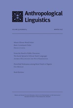 Anthropological Linguistics 59:4