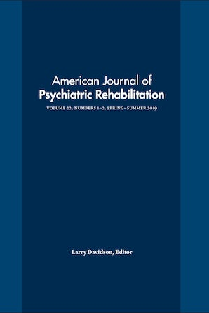 American Journal of Psychiatric Rehabilitation 22:1-2