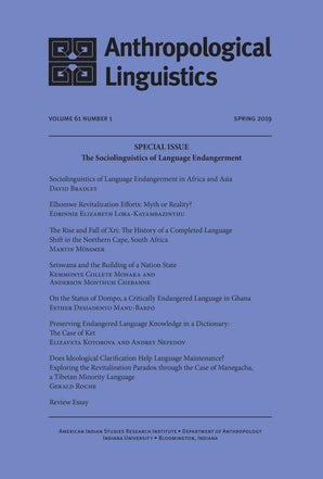 Anthropological Linguistics 61:1