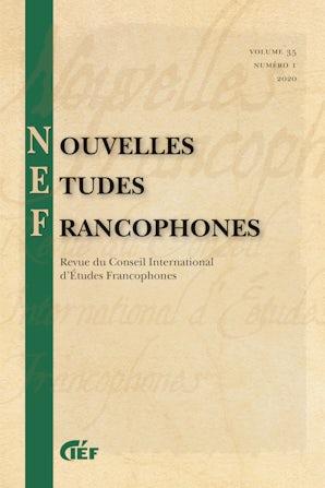 Nouvelles Études Francophones 35:1
