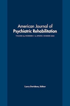 American Journal of Psychiatric Rehabilitation 23:1-2